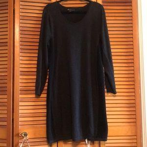 Lane  Bryant sweater dress mixed media